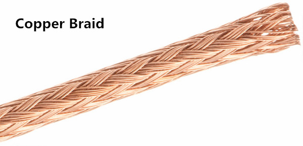Copper braid armored sensing fiber optic cable