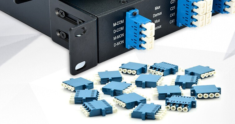 Quad Plastic LC Fiber Optic Adapters