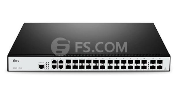 24-Port Gigabit Switch Selection - Fiber Optic Solution