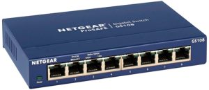 Netgear GS108 8 port gigabit switch