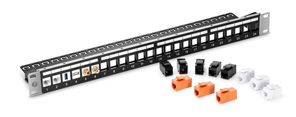 keystone jackets or insert modules to customize 24 port blank patch panel