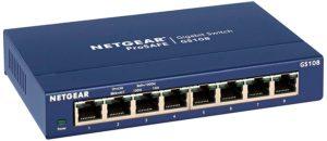Netgear GS108 8 port gigabit switch